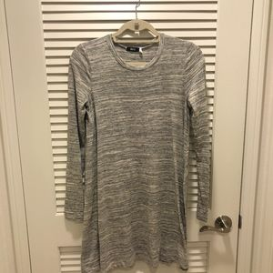 Urban Outfitters Heather Grey Long Sleeve Dress